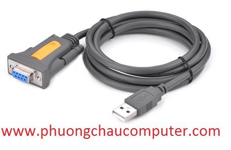 Cáp USB to Com DB9 RS232 1.5M chính hãng Ugreen 20201
