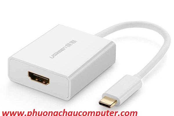Cáp USB Type-C to HDMI cao cấp Ugreen 50514 hỗ trợ 4K*2K, 3D