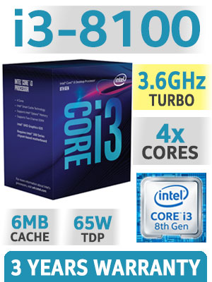 CPU Intel Core i3-8350K (4.0Ghz/ 4C4T/ 8MB/ 1151v2-CoffeeLake)