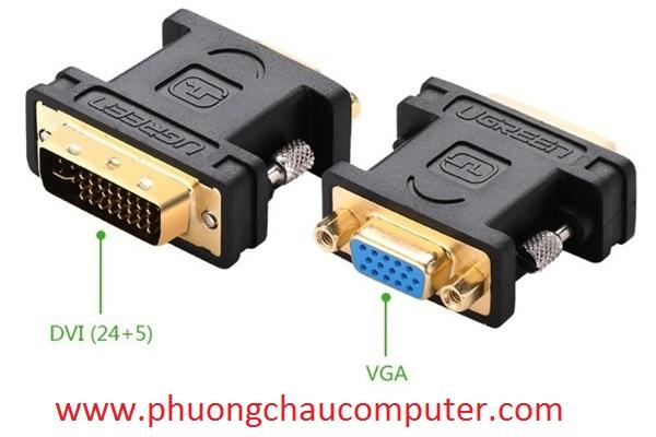 Đầu chuyển DVI (24+5) ra VGA chính hãng Ugreen 20122