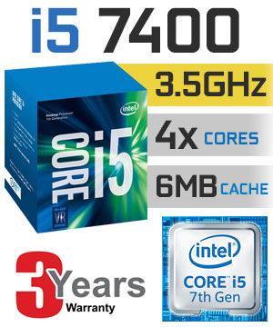 CPU Intel Core i5-7400 3.0 GHz / 6MB / HD 600 Series Graphics / Socket 1151 (Kabylake)