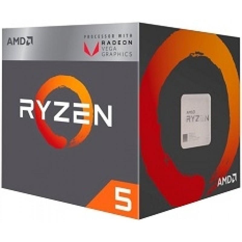 CPU AMD Ryzen 5 2400G 3.6 GHz (3.9 GHz with boost) / 6MB / 4 cores 8 threads / Radeon Vega 11 / socket AM4 / 65W (cTDP 45-65W)