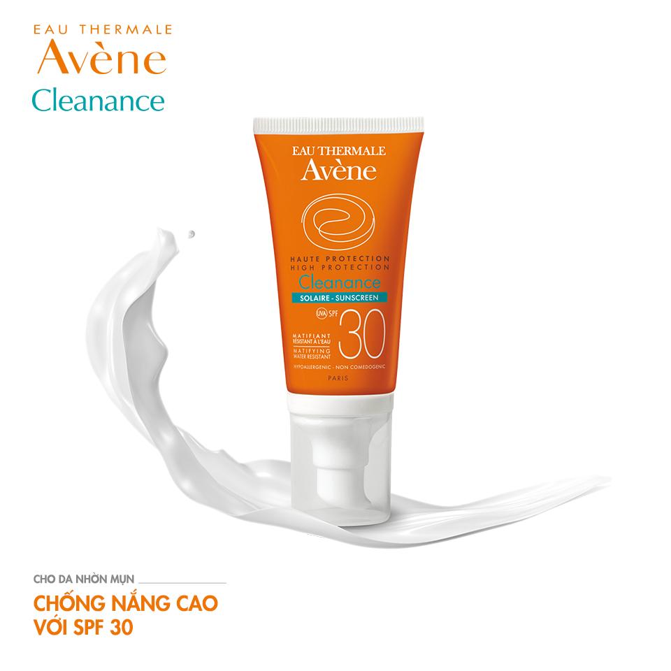 Kết quả hình ảnh cho Avene Protection Cleanance Sunscreen 30
