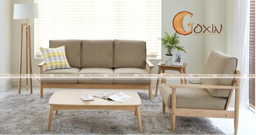 Sofa gỗ sồi Nga GX56