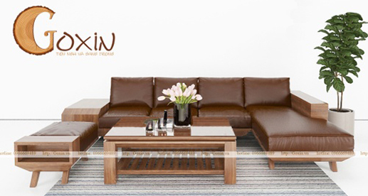 Sofa gỗ óc chó GX18