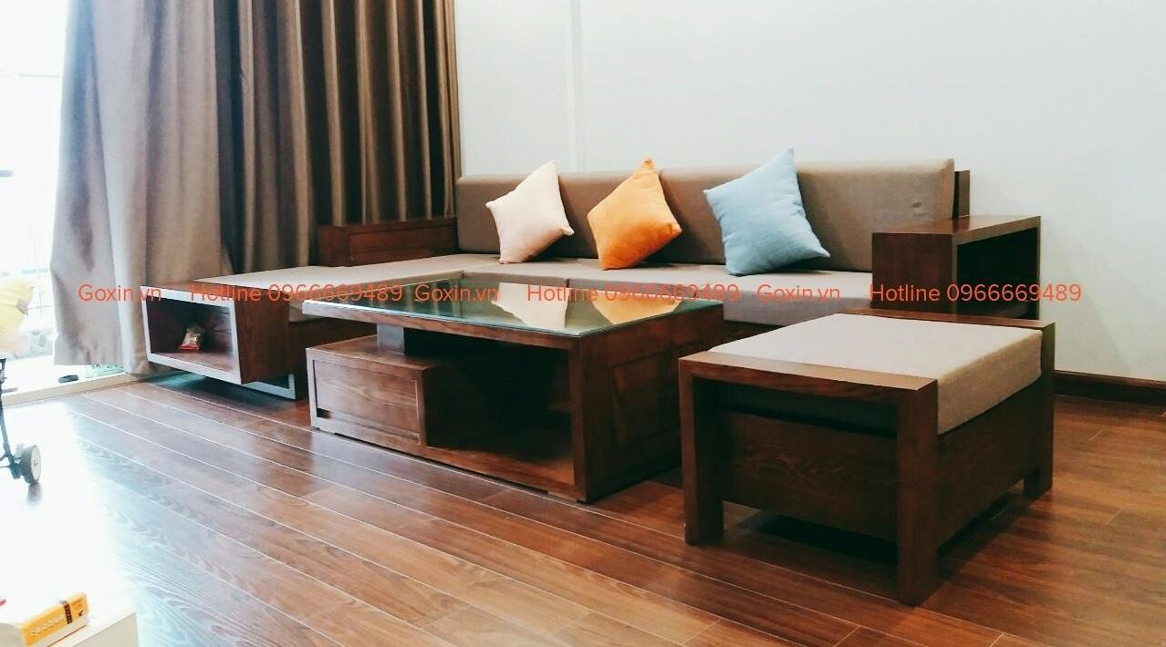 Sofa gỗ óc chó GX04