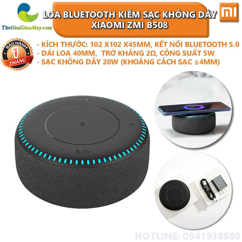 Loa Bluetooth kiêm sạc không dây 20W Xiaomi ZMI B508 - Bảo hành 1 tháng -  Shop Thế Giới Điện Máy Thế giới điện máy - đại lý xiaomi chính hãng tại  Việt Nam
