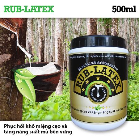 RUB-LATEX 500ml - Dinh dưỡng kích thích mủ cao su và tái tạo miệng cạo