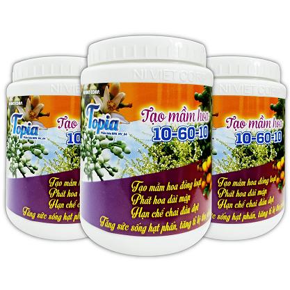 TOPIA TẠO MẦM HOA 10-60-10 Phân bón cho cây ăn trái