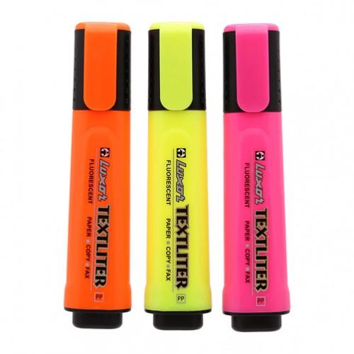 Bút dấu dòng LUXOR 417/401 màu cam/hồng/vàng/xanh lá