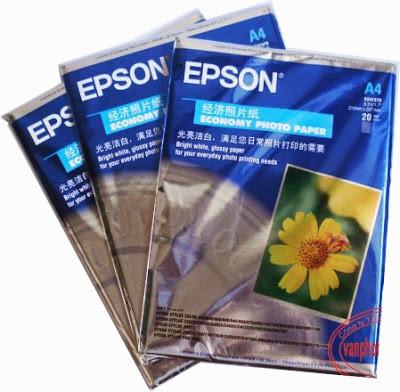 Giấy in ảnh Epson A4(20 tờ/tập)