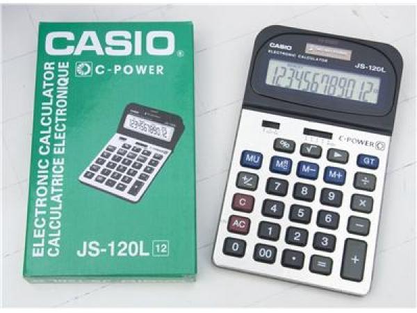 Máy tính Casio 12 số JS-120L, BH 12T