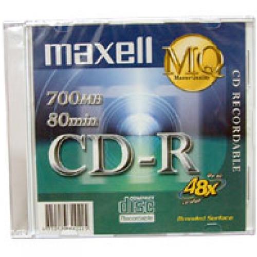 Đĩa CD-R Maxell có vỏ nhựa