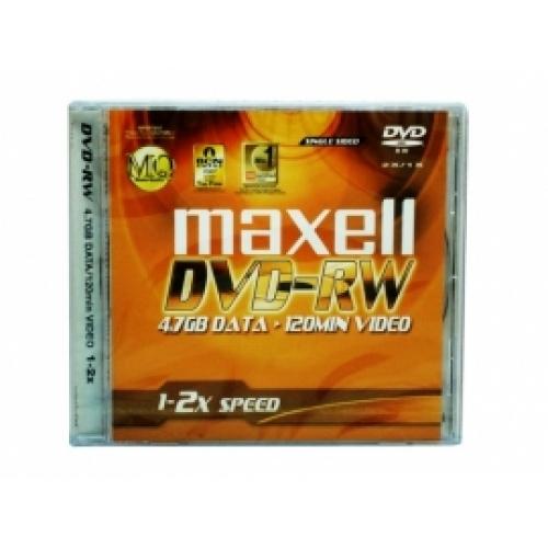 Đĩa DVD-RW Maxell có vỏ nhựa