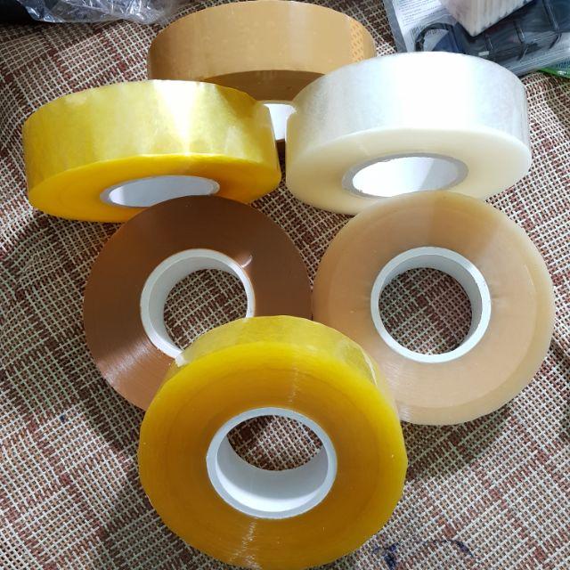 Băng dính trong/đục 5cm (dày 80y/100Y/120y/150y/200y)