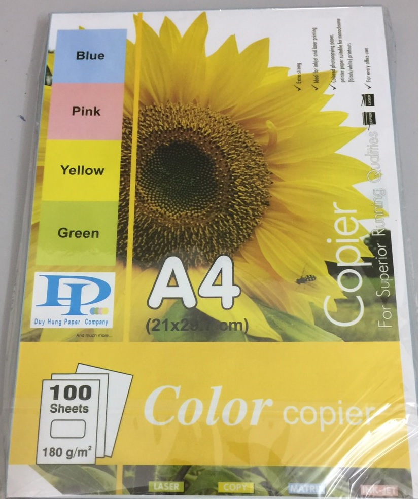 Bìa A4/A3 Duy Hưng DL 180gsm các màu