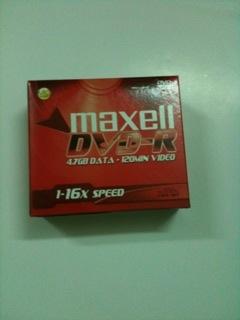 Đĩa DVD-R Maxell có vỏ nhựa