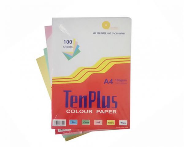 Bìa A4 TenPlus ĐL 160g các màu