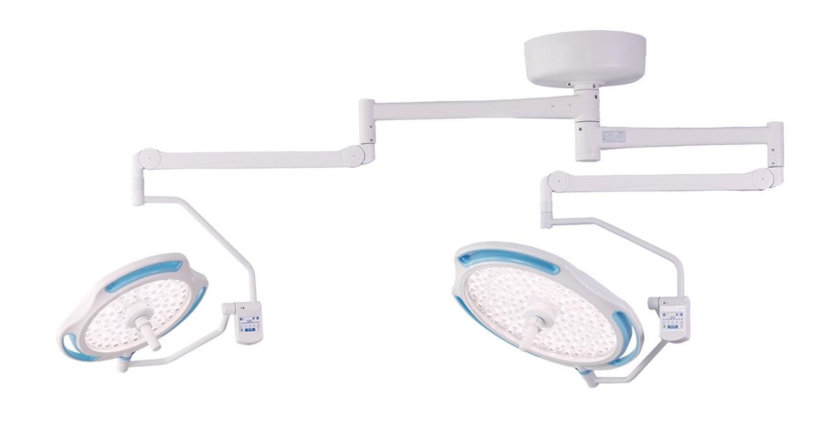 Đèn mổ LED treo trần 2 nhánh tích hợp camera
