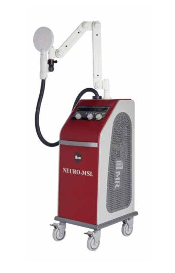 Máy kích thích điện từ trường kết hợp laser điều trị thần kinh xuyên xọ và xương khớp