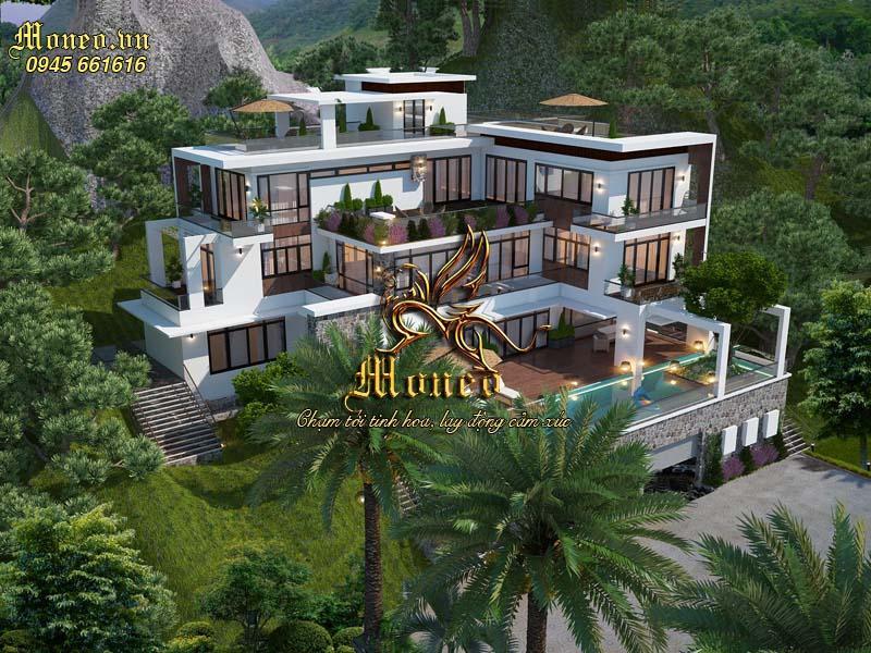 Mẫu thiết kế biệt thự nghỉ dưỡng đẹp diện tích 500m2 hiện đại