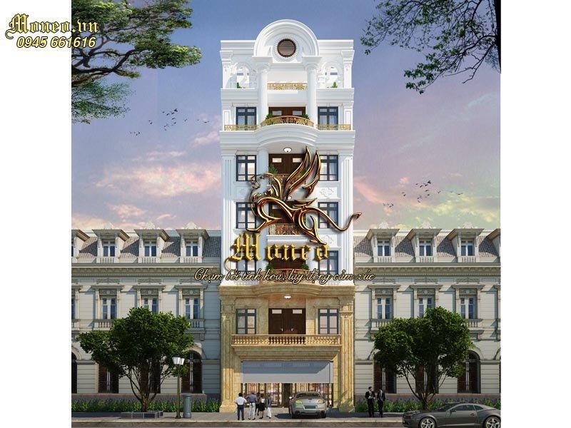 Cải tạo mặt tiền nhà 7 tầng phong cách tân cổ điển