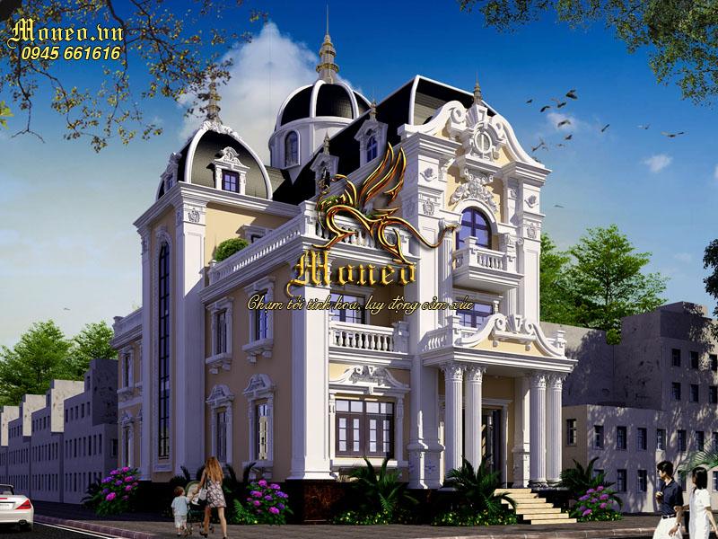 kiến trúc lâu đài cổ điển 3 tầng