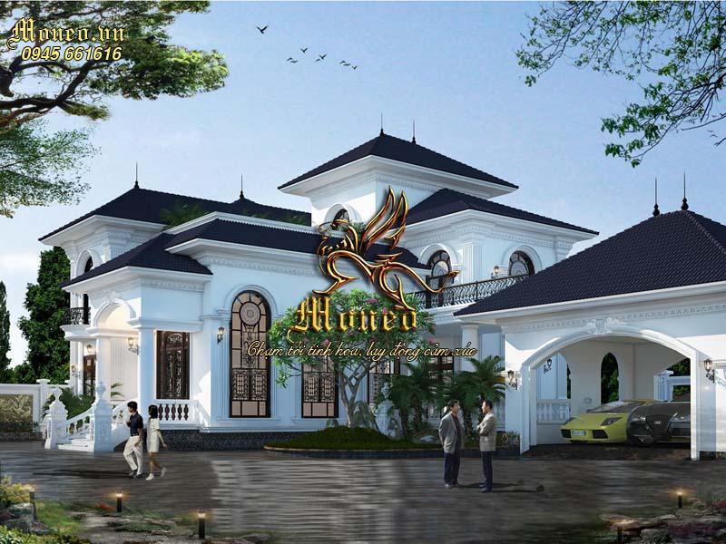 thiết kế dinh thự vườn 2 tầng