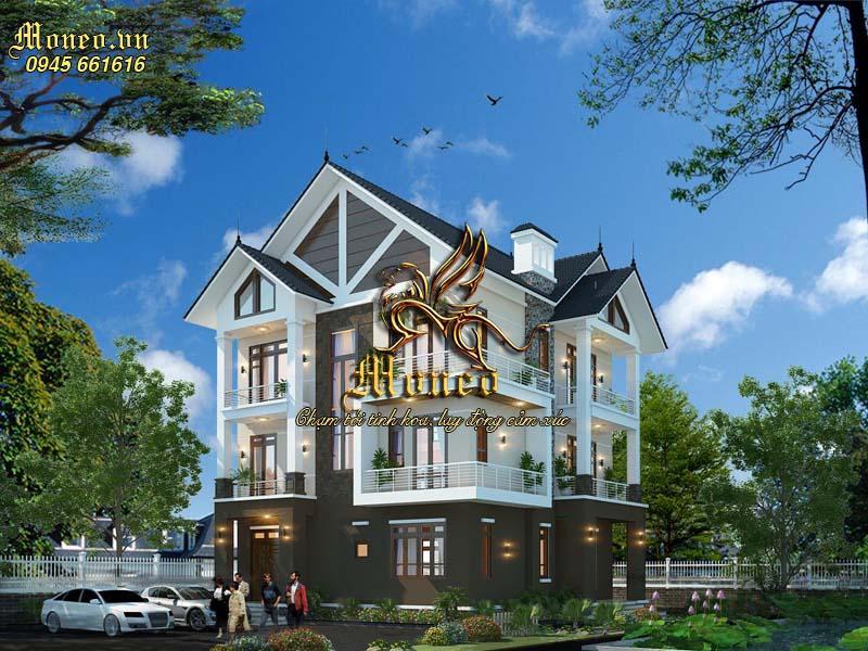 hình ảnh mẫu nhà đẹp 3 tầng 140m2