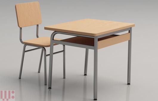 Bàn ghế học sinh đơn AT02