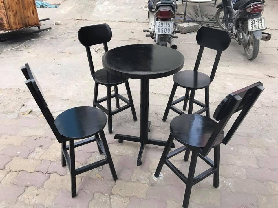 Bàn ghế cafe chân tròn kiểu mới BCF102