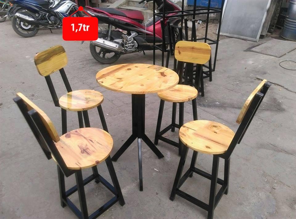 Bàn ghế cafe chân tròn kiểu mới BCF103