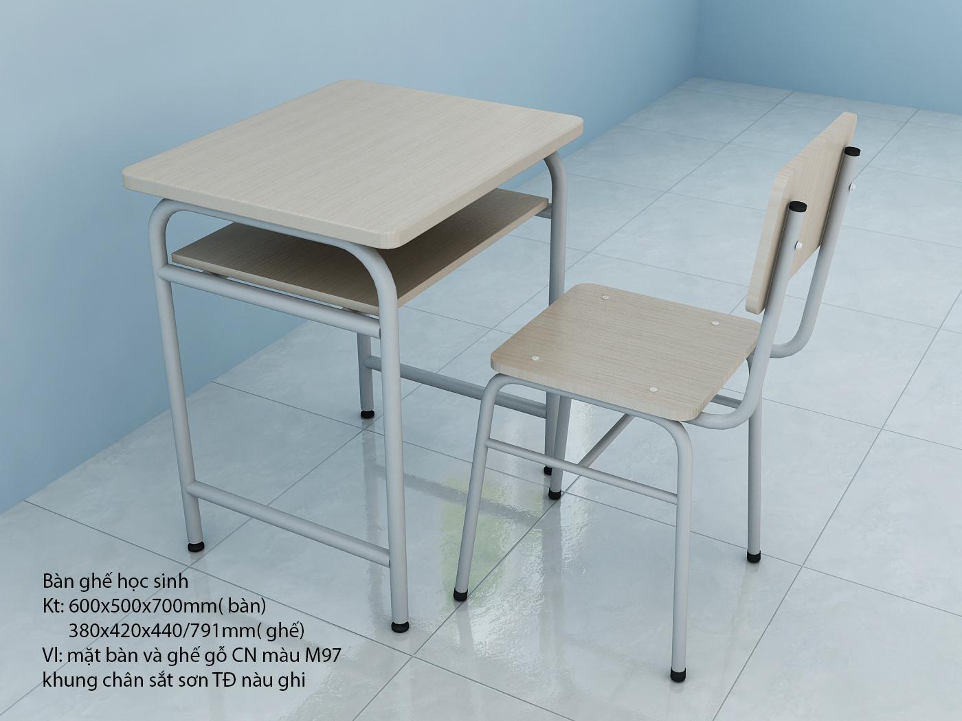 Bàn ghế học sinh đơn cho các TT Anh ngữ