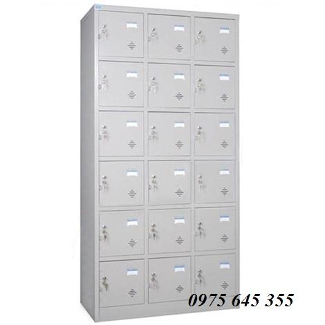 Tủ locker 18 khóa sắt Hòa Phát TU986-3K
