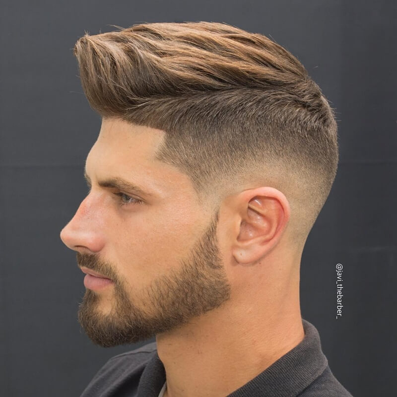 Kiểu tóc nam High Fade + Medium Hair