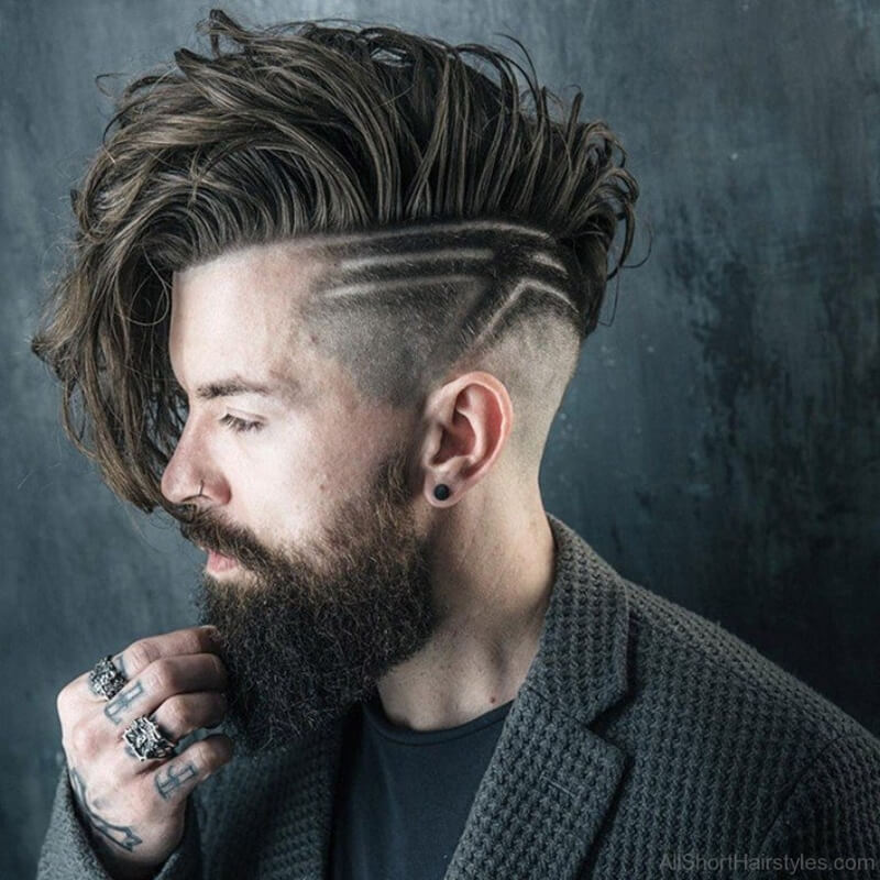 Kiểu tóc Undercut + Long Hair + Beard