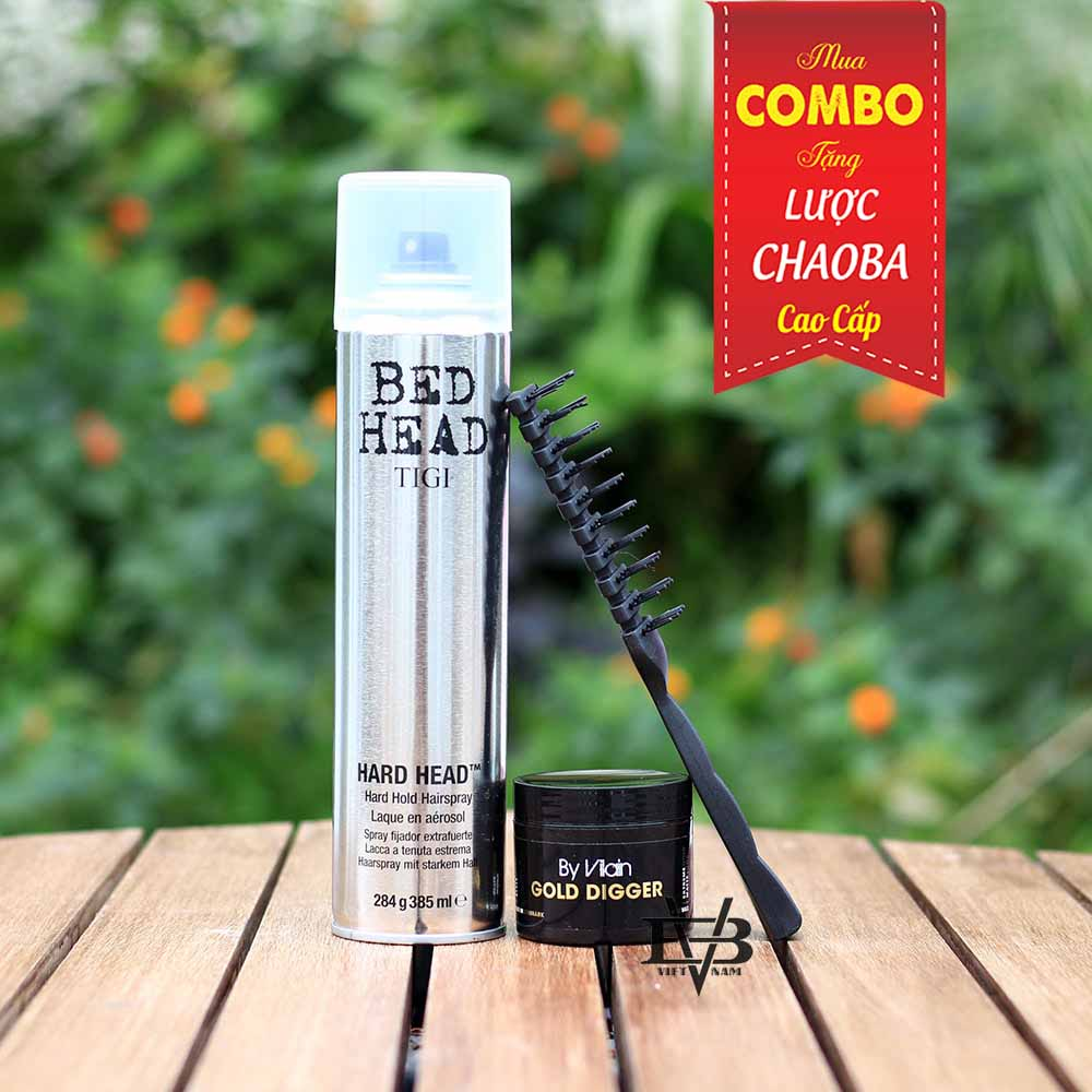 COMBO Gôm Tigi Bed Head 350ml + Sáp vuốt tóc By Vilain Gold Digger
