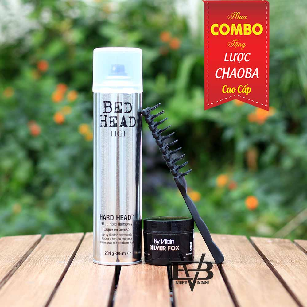 COMBO Gôm xịt tóc Tigi Bed Head 350ml + Sáp vuốt tóc By Vilain SIlver Fox 65ml