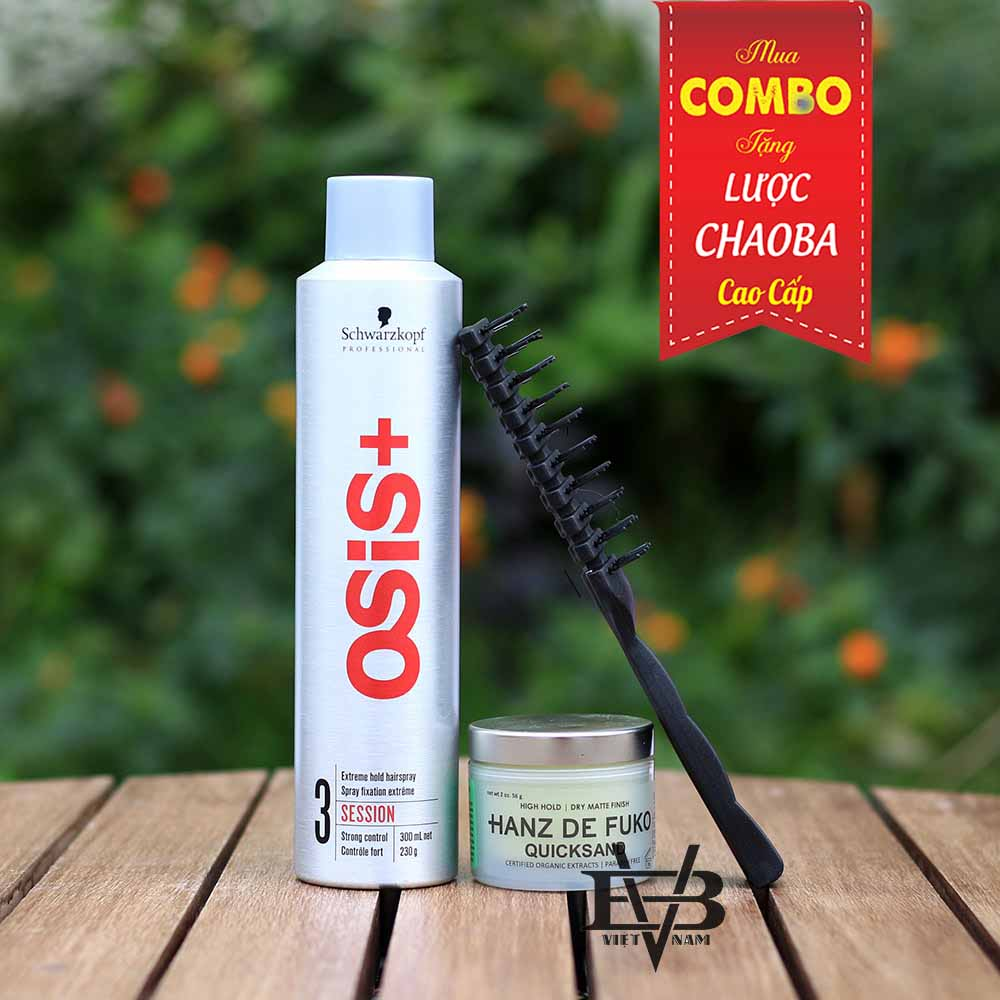 osis+ 3 Session Finish 300ml + Sáp vuốt tóc Hanz De Fuko Quicksand 56g