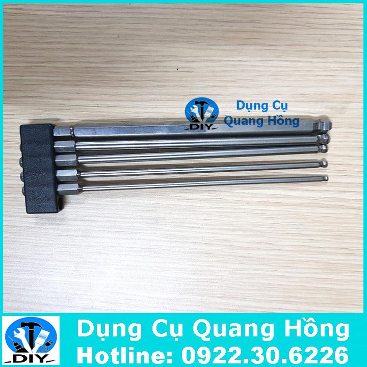Bộ 5 mũi lục giác bóng 150mm Broppe cho khoan pin và khoan điện