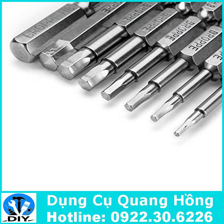 Bộ 8 đầu lục giác cho khoan pin và khoan điện