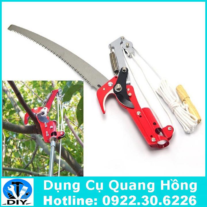 Đầu kéo cắt cành cây trên cao, hái quả, kết hợp cưa cành