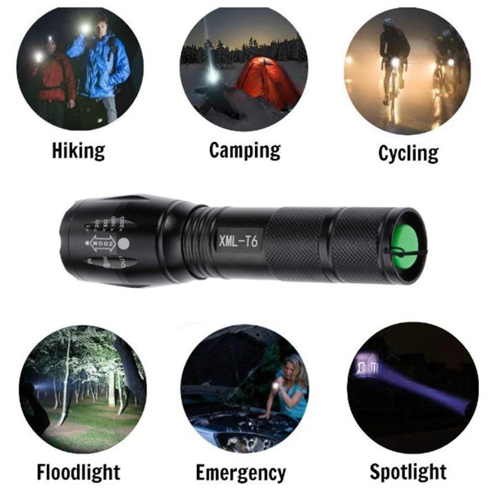 Đèn pin siêu sáng XML-T6 chuyên dụng