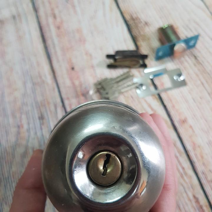 Bộ khóa tay nắm tròn khóa cửa kho, khóa cửa toilet