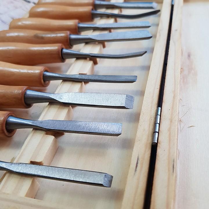 Bộ 10 mũi dao đục, khắc gỗ các loại chuyên dụng dài 140mm