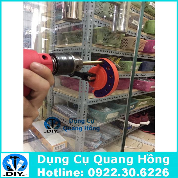 Dụng cụ định vị, cố định dùng khi khoan kính, thủy tinh, gạch men