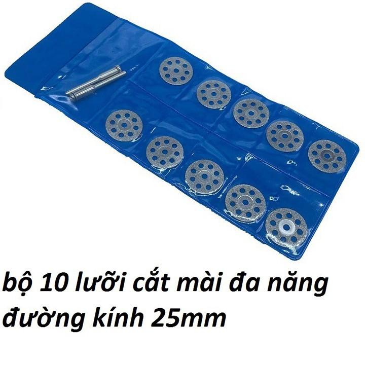 Bộ 10 lưỡi cắt mài mini đa năng 25mm