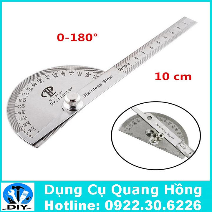 Thước đo góc 0-180 độ có thể điều chỉnh - 10cm