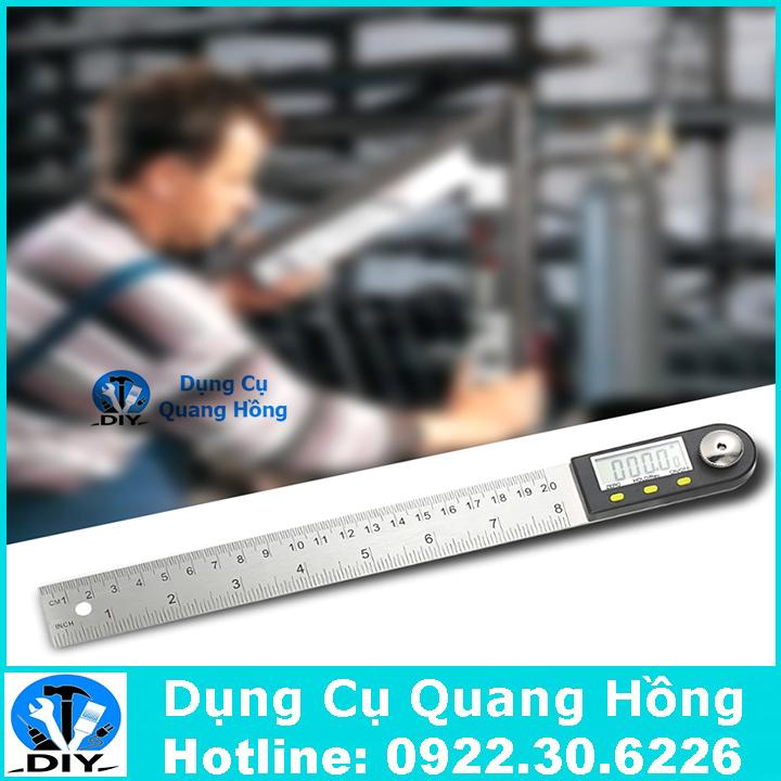 Thước đo góc, đo độ điện tử 200mm xoay 360 độ chuyên dụng