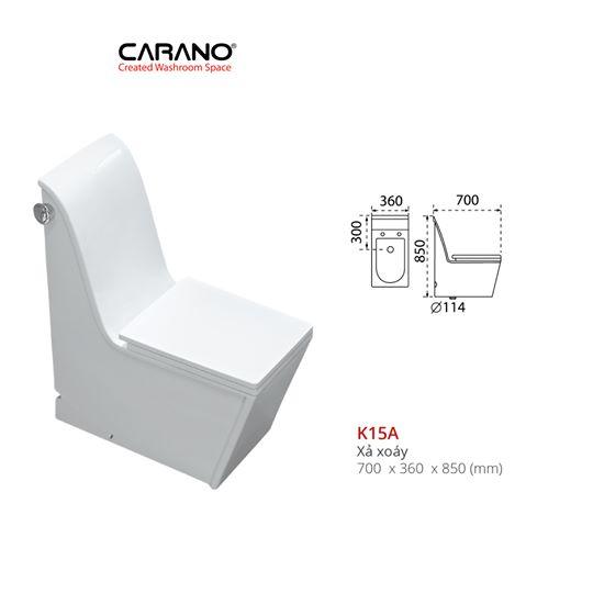 BỒN CẦU CARANO 1 KHỐI K15A ( Toilet model: K15A )